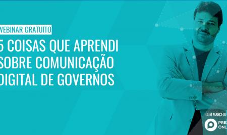 Comunicação digital de governo é tema de webinar