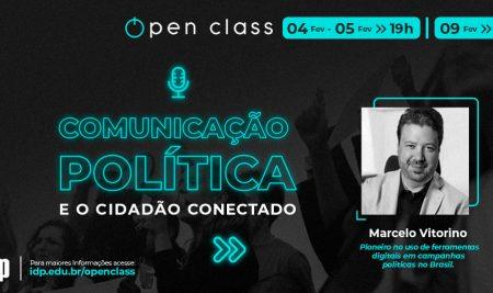 Comunicação política é tema de curso gratuito com Marcelo Vitorino